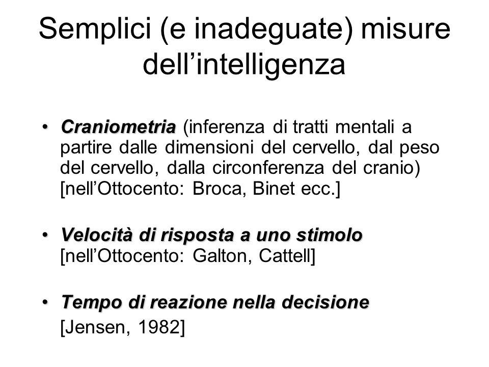 Semplici (e inadeguate) misure dell'intelligenza