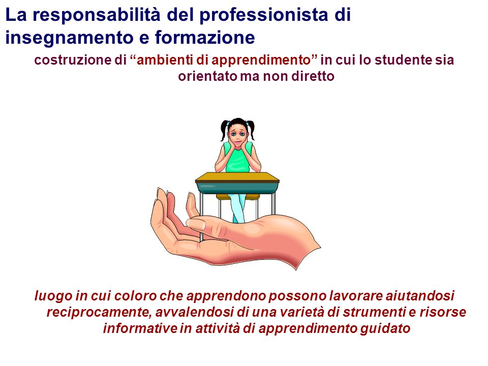 La responsabilità del professionista di insegnamento e formazione