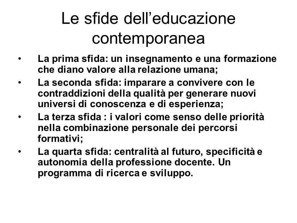 Le sfide dell'educazione contemporanea
