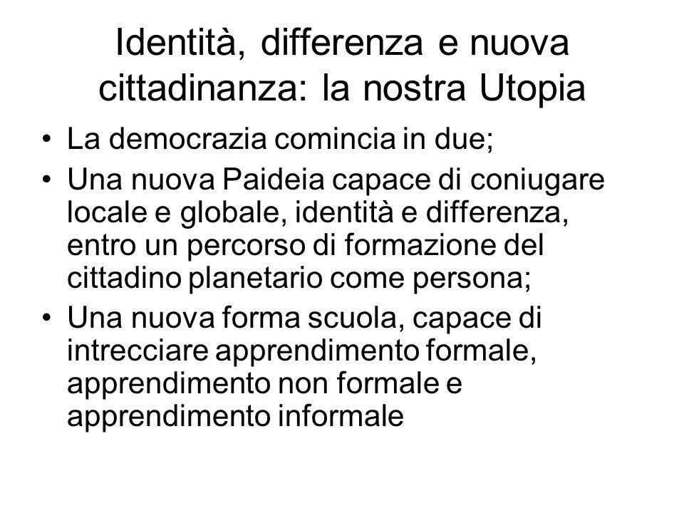 Identità, differenza e nuova cittadinanza: la nostra Utopia