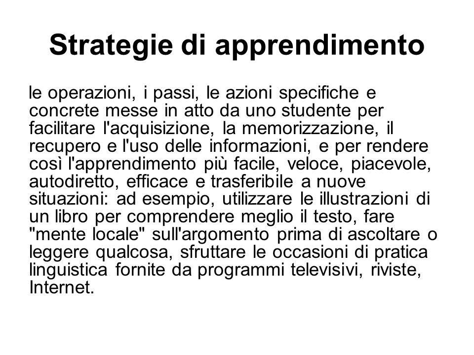 Strategie di apprendimento