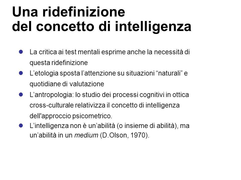 Una ridefinizione del concetto di intelligenza