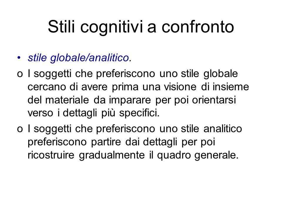 Stili cognitivi a confronto