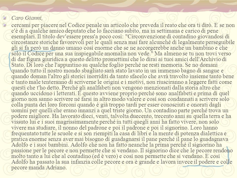 Caro Gianni,