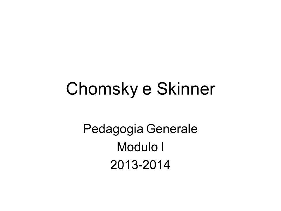 Pedagogia Generale Modulo I 2013-2014