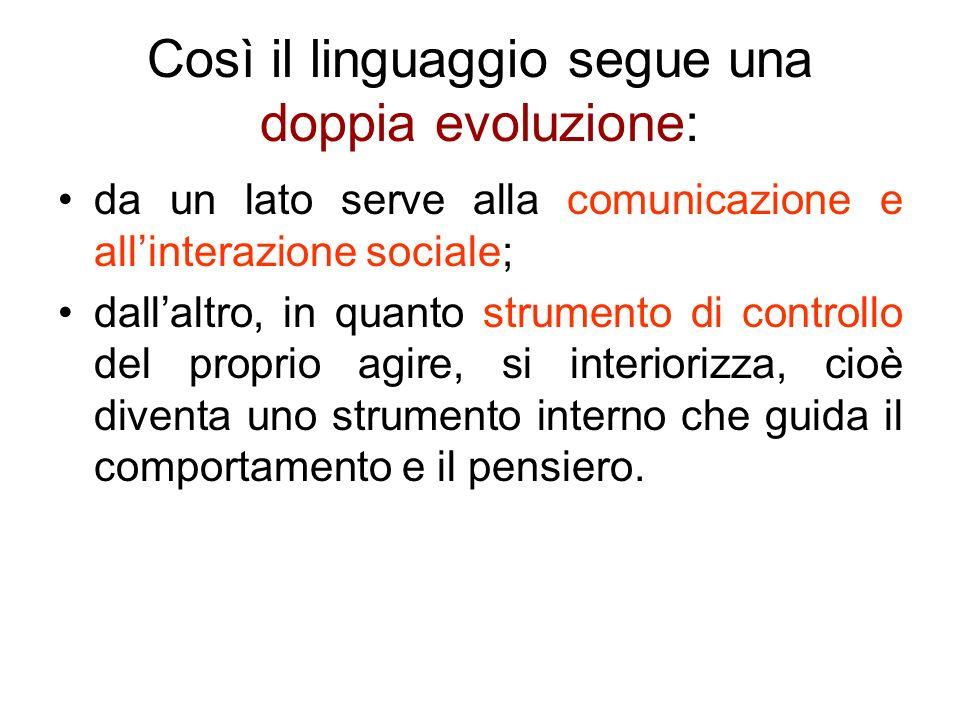 Così il linguaggio segue una doppia evoluzione: