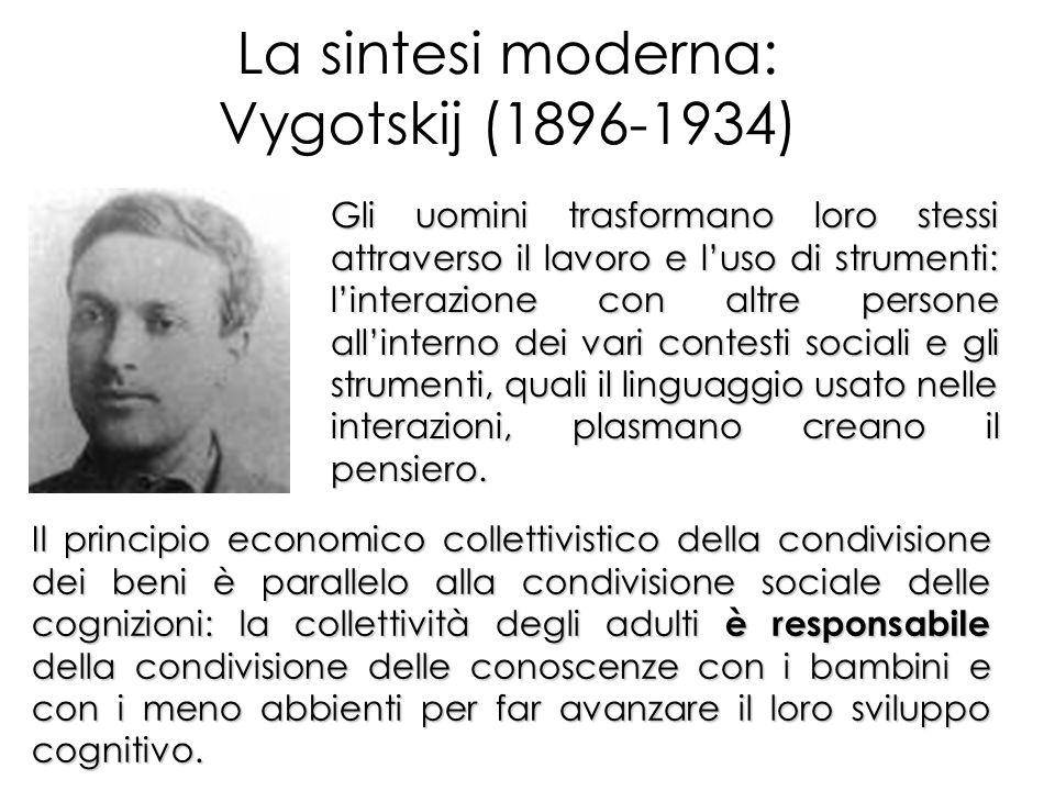 La sintesi moderna: Vygotskij (1896-1934)