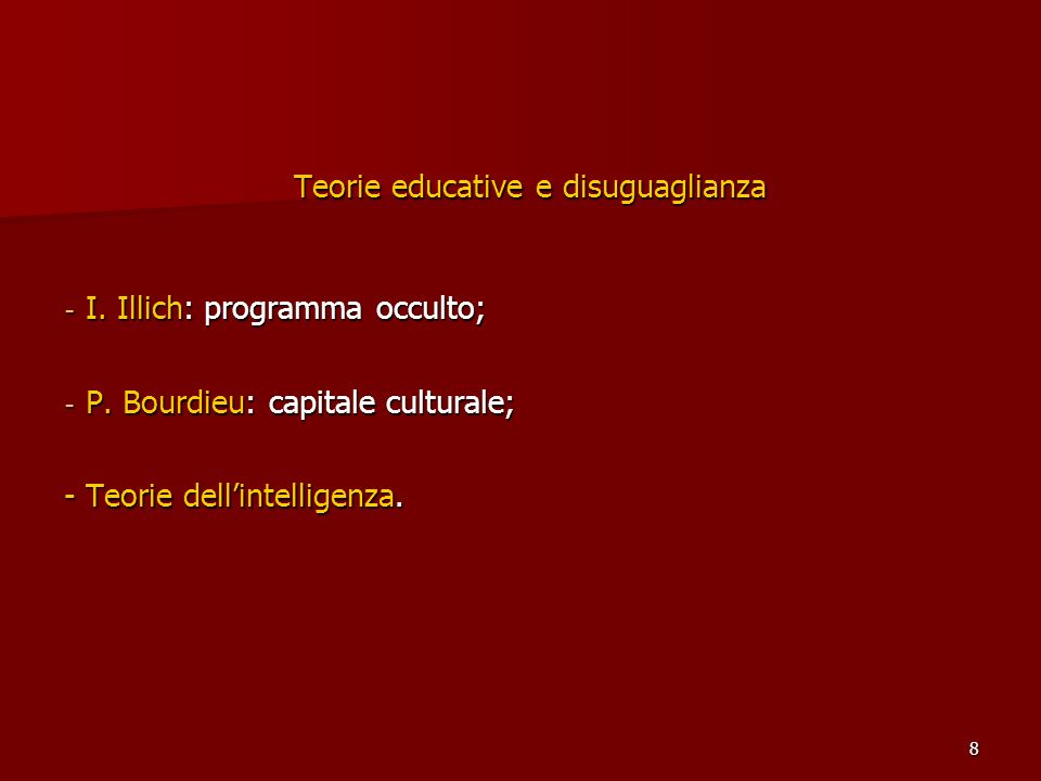 Teorie educative e disuguaglianza