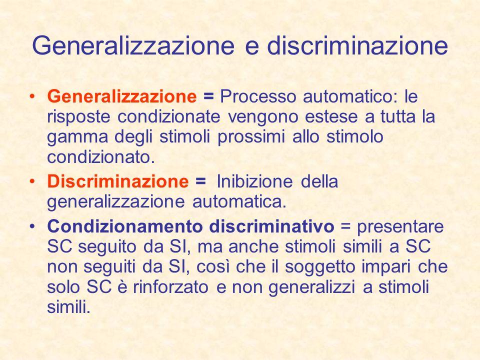 Generalizzazione e discriminazione