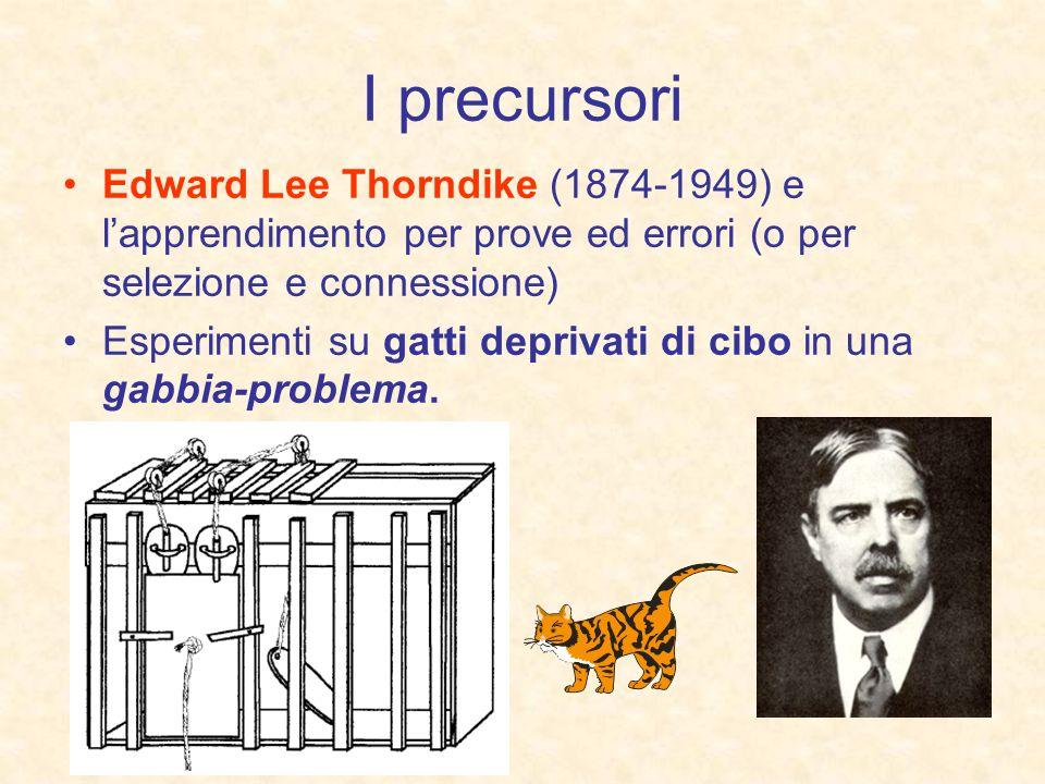 I precursoriEdward Lee Thorndike (1874-1949) e l'apprendimento per prove ed errori (o per selezione e connessione)