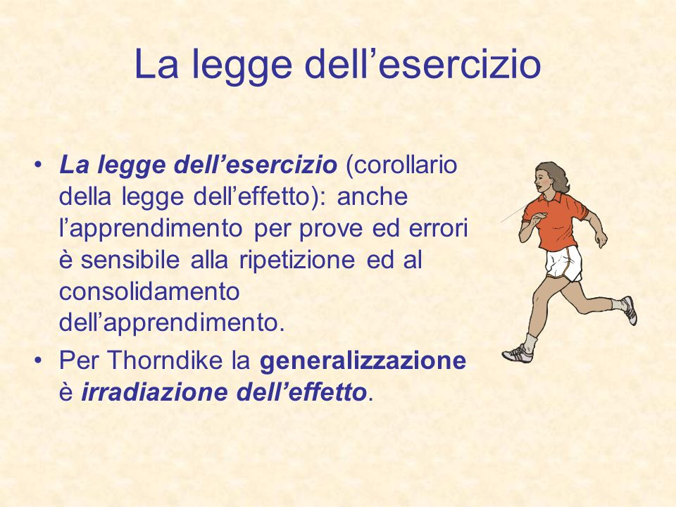 La legge dell'esercizio