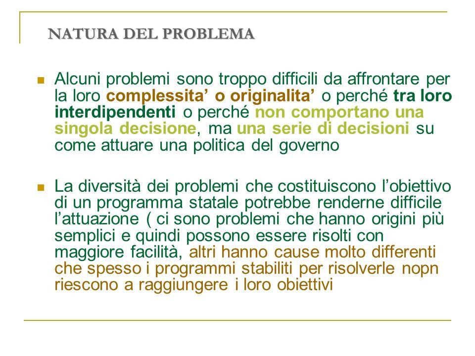 NATURA DEL PROBLEMA