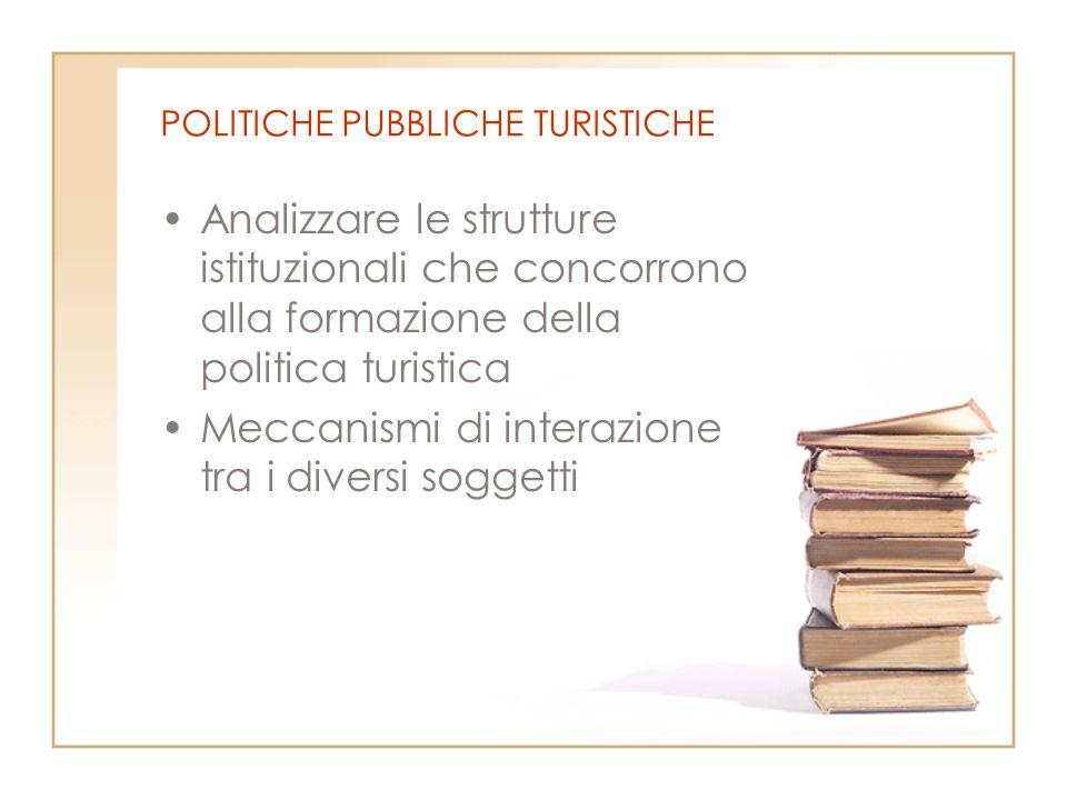 POLITICHE PUBBLICHE TURISTICHE