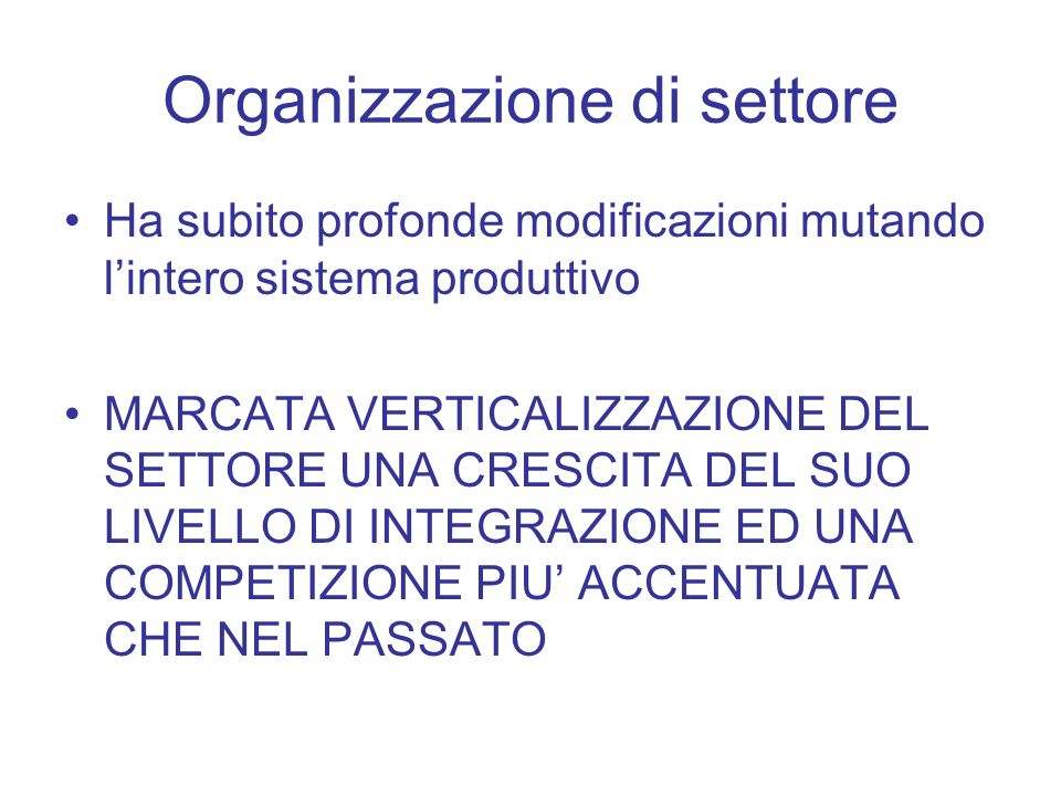 Organizzazione di settore