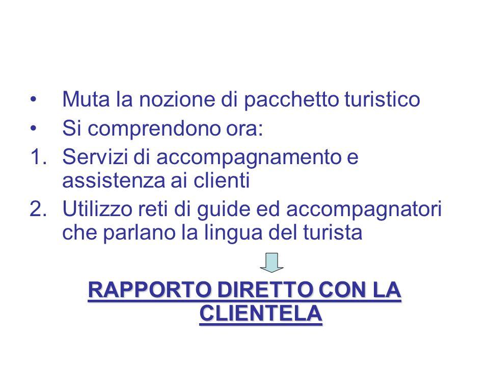 RAPPORTO DIRETTO CON LA CLIENTELA