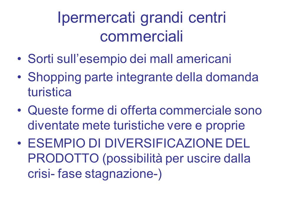 Ipermercati grandi centri commerciali