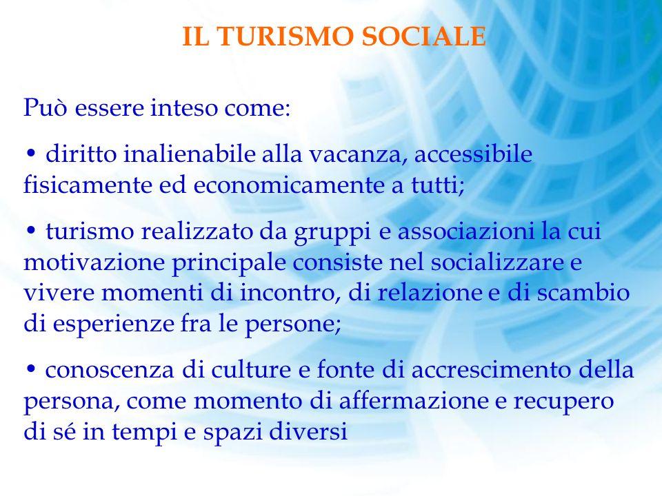 IL TURISMO SOCIALE Può essere inteso come:
