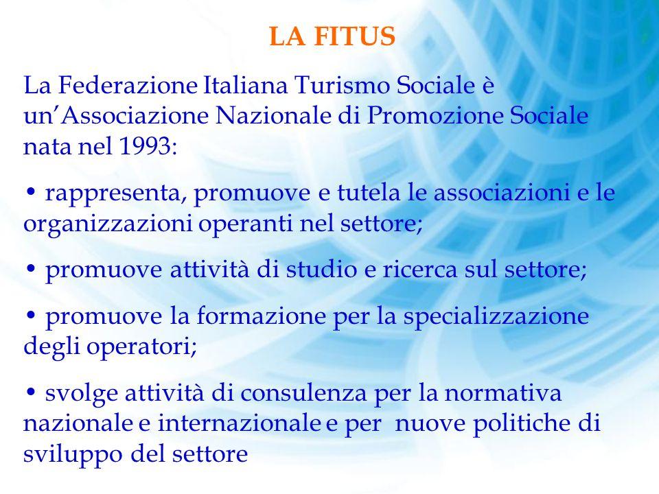 LA FITUS. La Federazione Italiana Turismo Sociale è un'Associazione Nazionale di Promozione Sociale nata nel 1993: