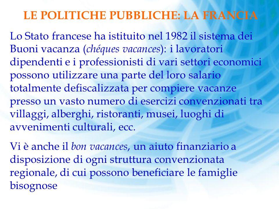 LE POLITICHE PUBBLICHE: LA FRANCIA