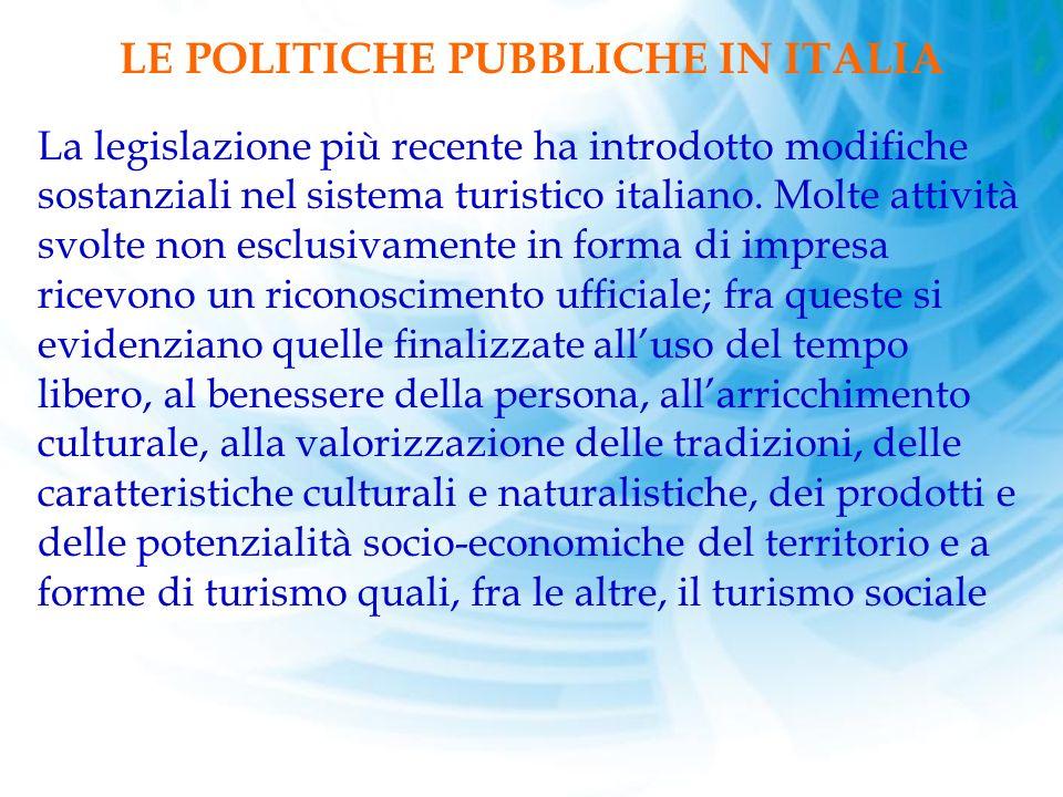 LE POLITICHE PUBBLICHE IN ITALIA