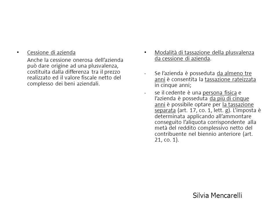 Silvia Mencarelli Cessione di azienda