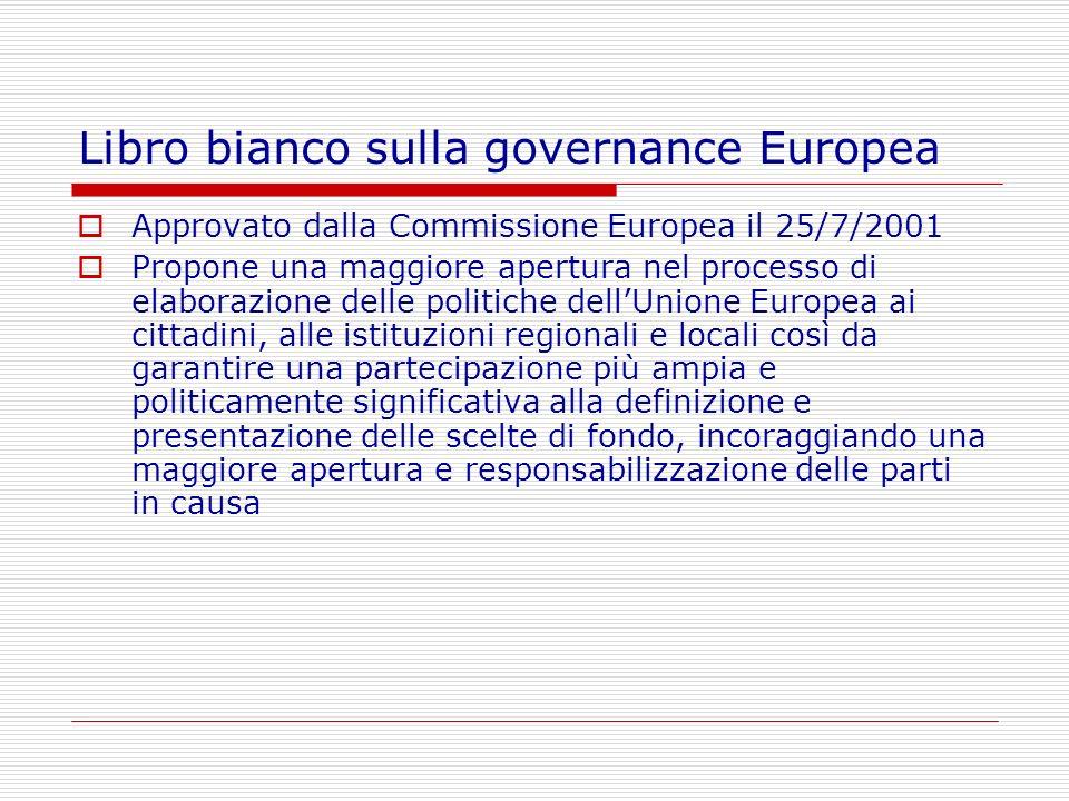 Libro bianco sulla governance Europea