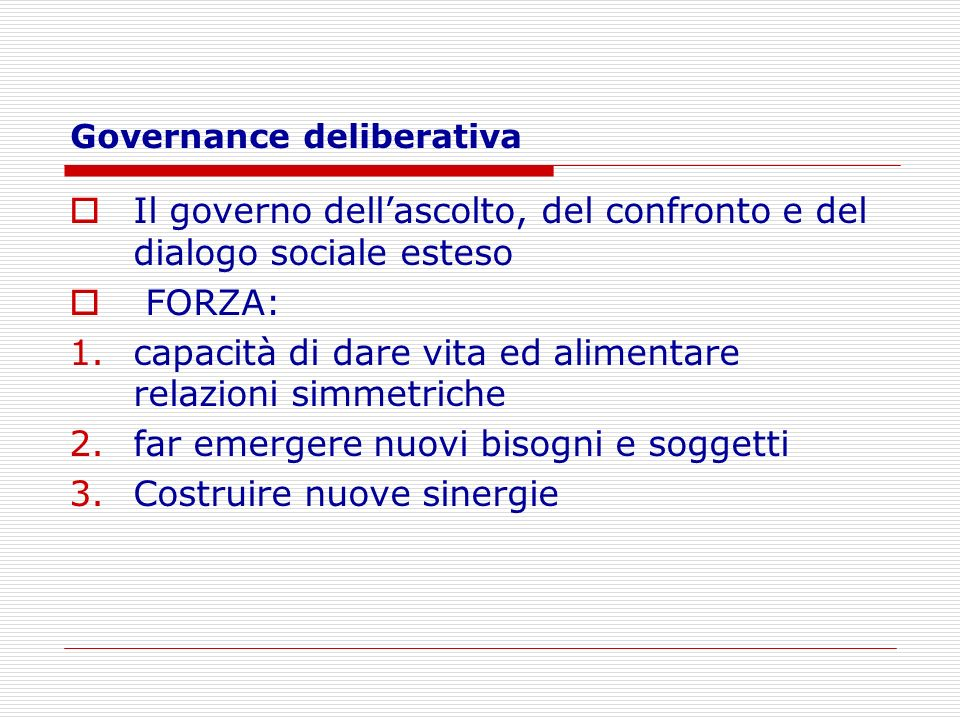 Governance deliberativa