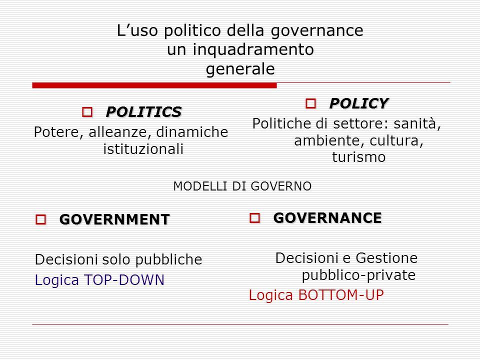 L'uso politico della governance un inquadramento generale