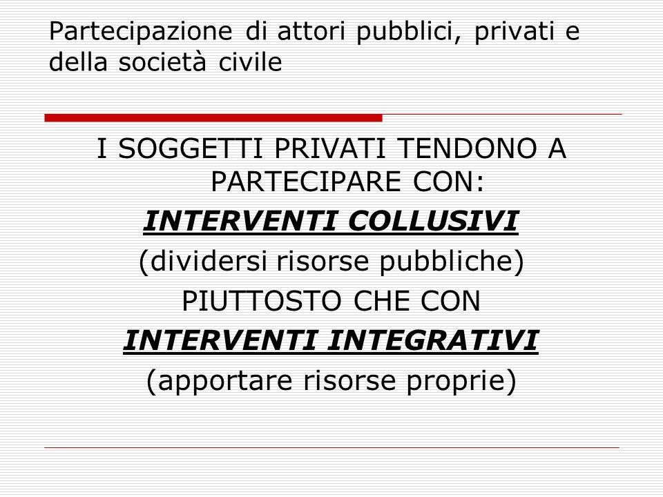 Partecipazione di attori pubblici, privati e della società civile