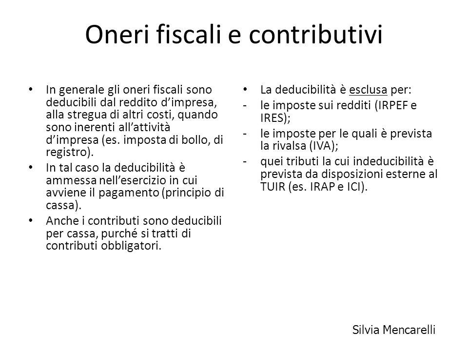 Oneri fiscali e contributivi