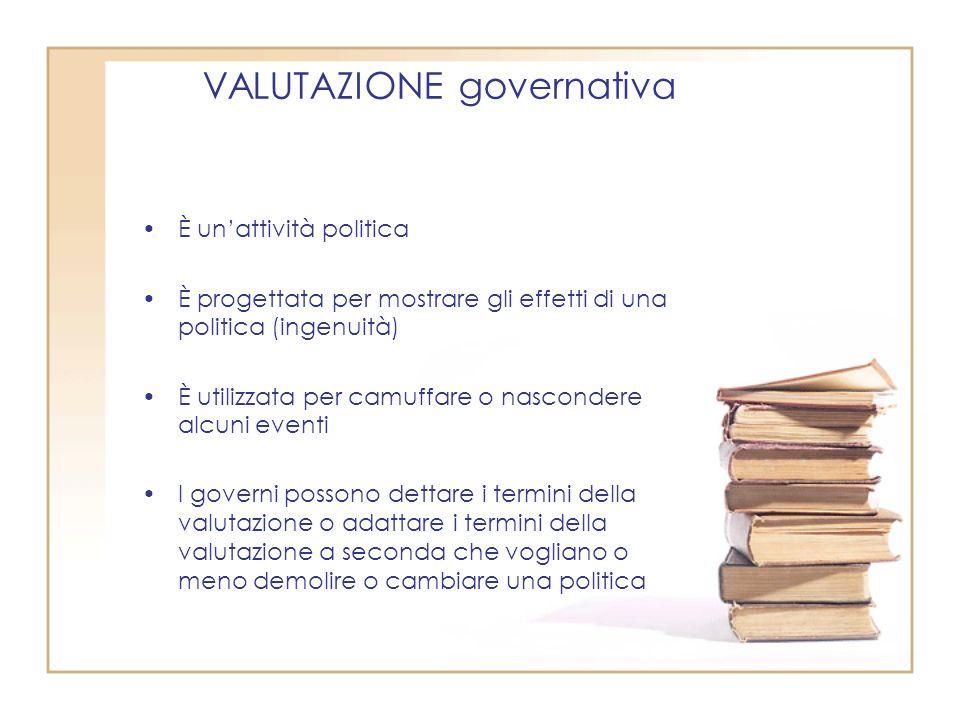 VALUTAZIONE governativa
