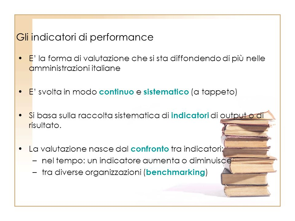 Gli indicatori di performance