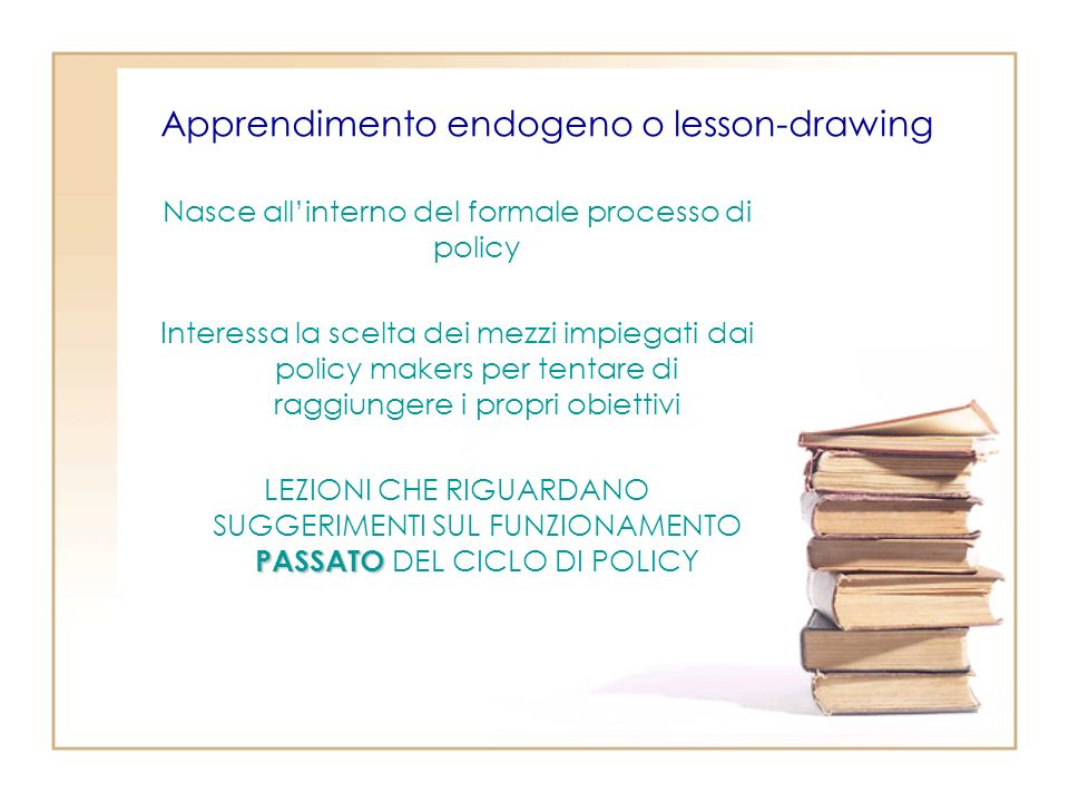 Apprendimento endogeno o lesson-drawing