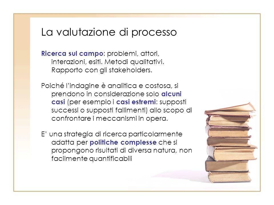 La valutazione di processo