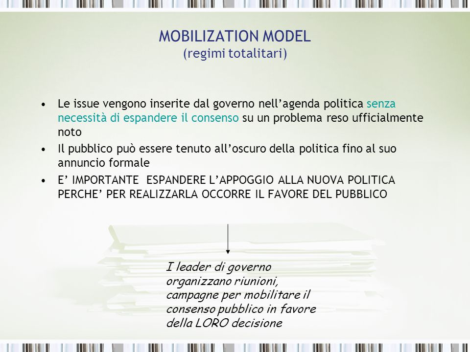 MOBILIZATION MODEL (regimi totalitari)