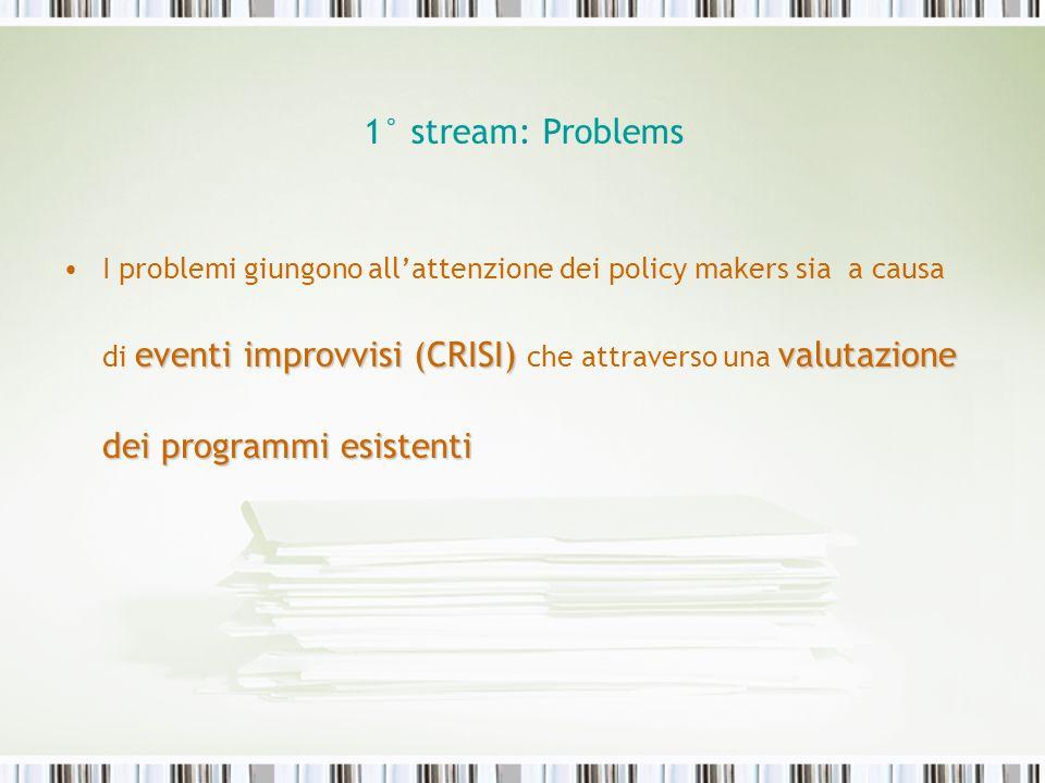 1° stream: Problems