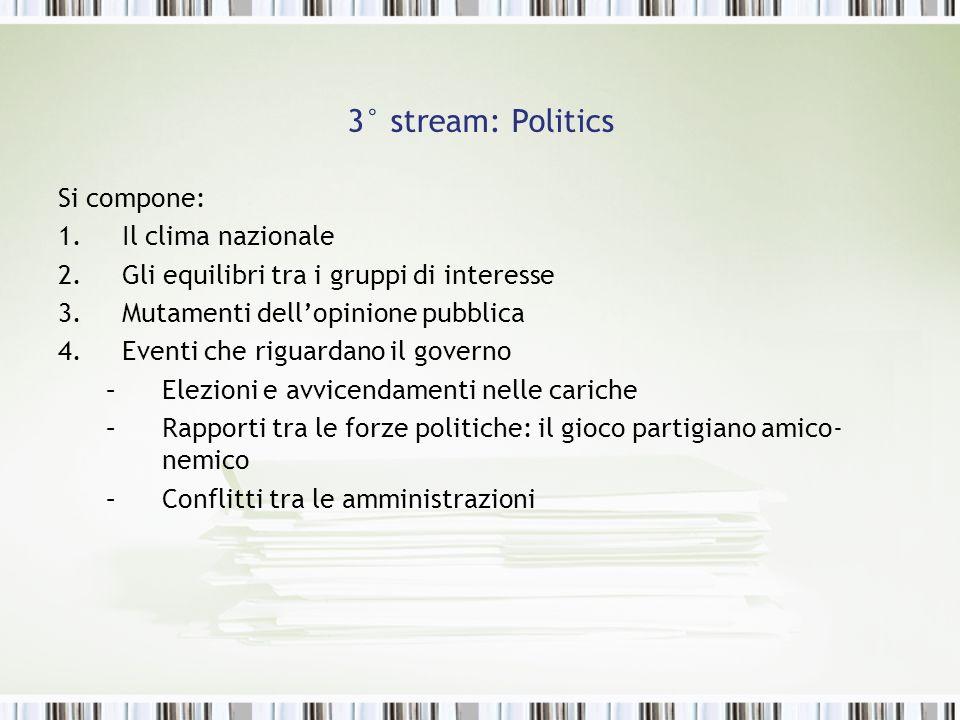 3° stream: Politics Si compone: Il clima nazionale