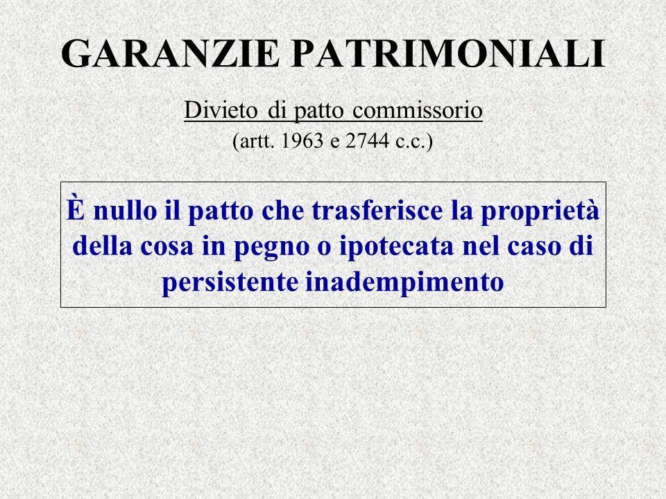 GARANZIE PATRIMONIALI
