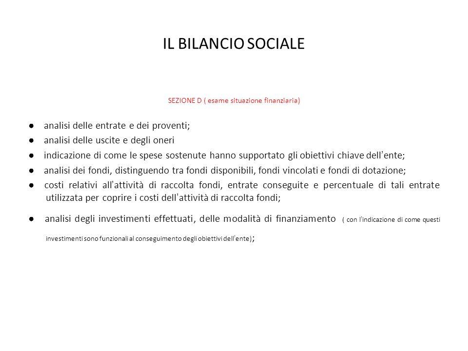 SEZIONE D ( esame situazione finanziaria)