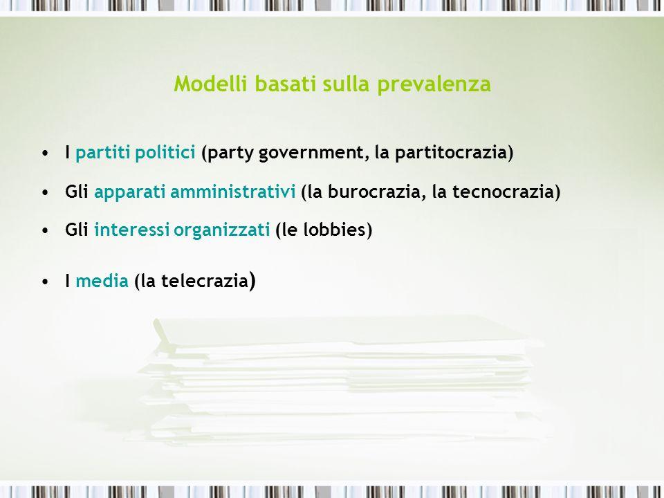 Modelli basati sulla prevalenza