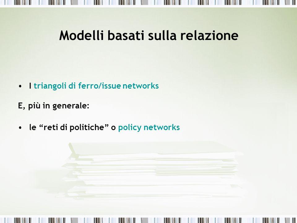 Modelli basati sulla relazione