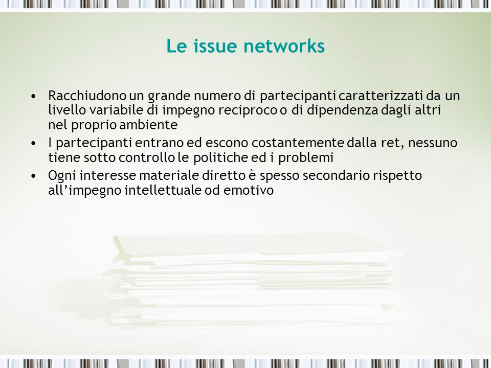 Le issue networks