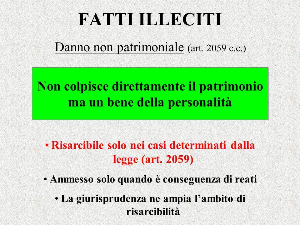 Danno non patrimoniale (art. 2059 c.c.)