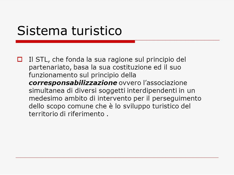 Sistema turistico