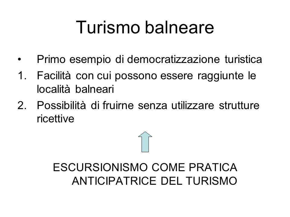 ESCURSIONISMO COME PRATICA ANTICIPATRICE DEL TURISMO