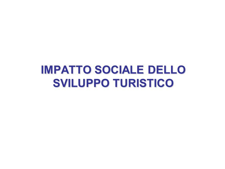 IMPATTO SOCIALE DELLO SVILUPPO TURISTICO