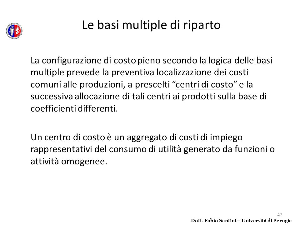 Le basi multiple di riparto