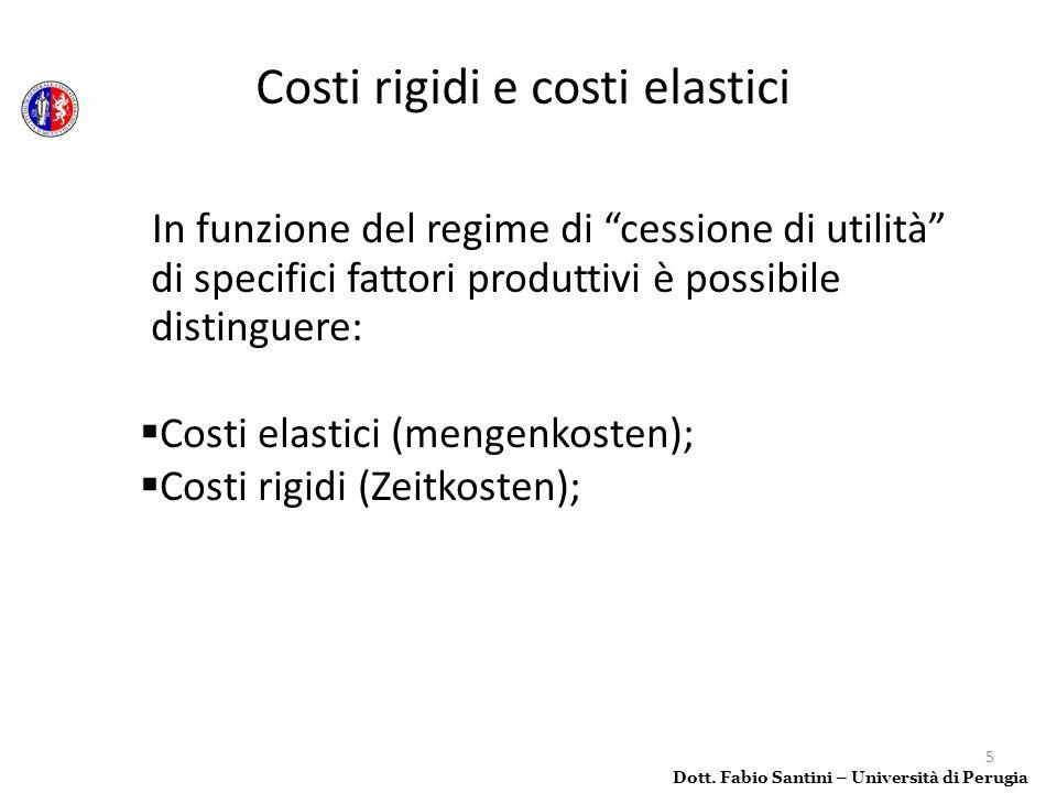 Costi rigidi e costi elastici