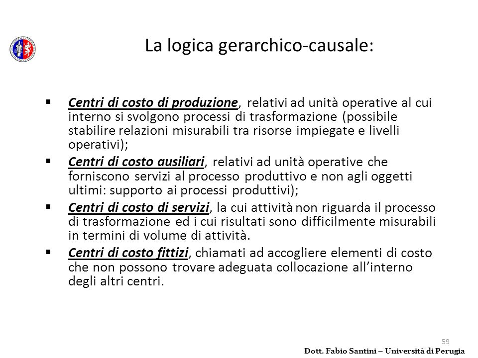 La logica gerarchico-causale: