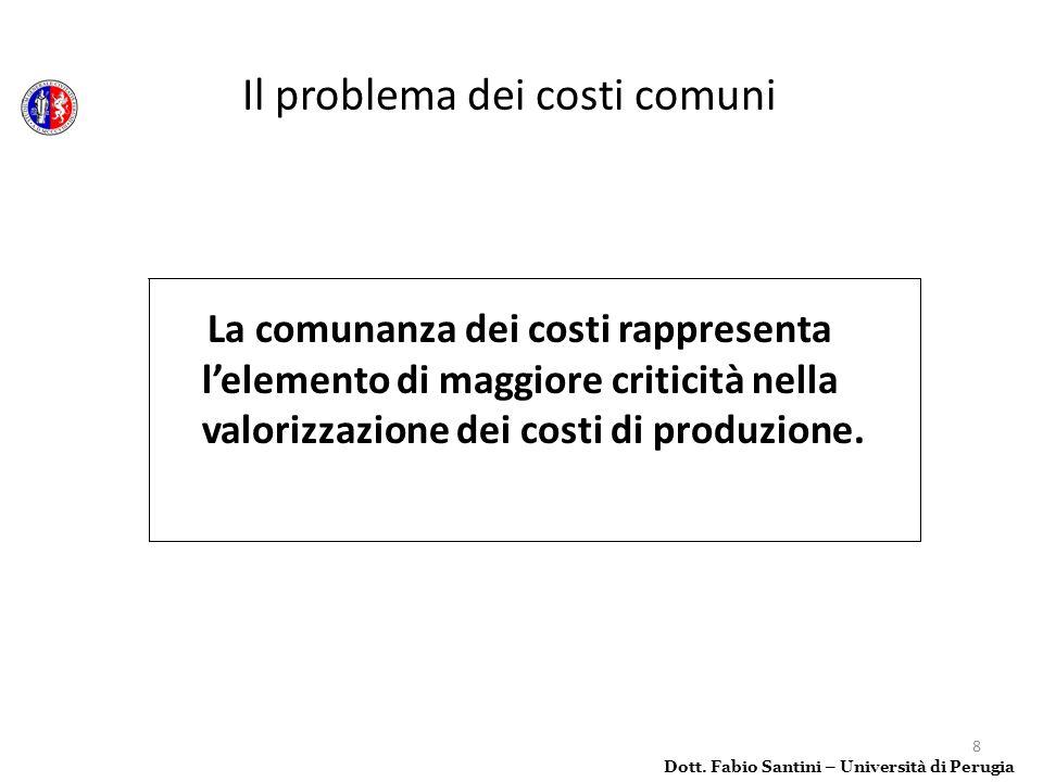 Il problema dei costi comuni